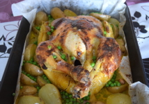 coconut and lemon roasted chicken